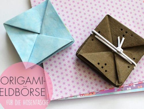 Origami-Geldbörse aus veganem Leder nähen: Anleitung und Schnittmuster