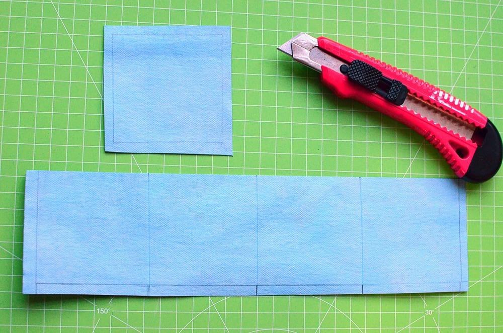 Origamigeldbeutel zuschneiden aus kulörtexx