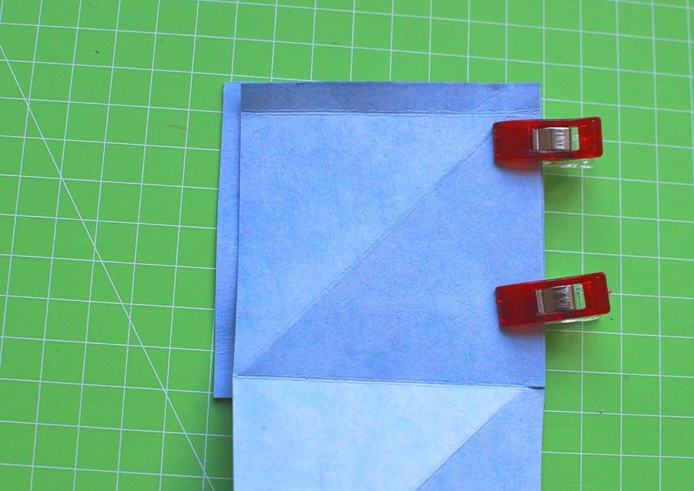 Minigeldbeutel aus Kreativ-Papier