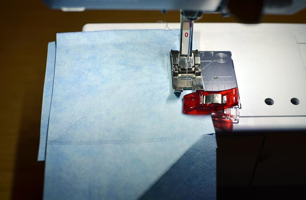 Kreativpapier SnapPap zusammennähen
