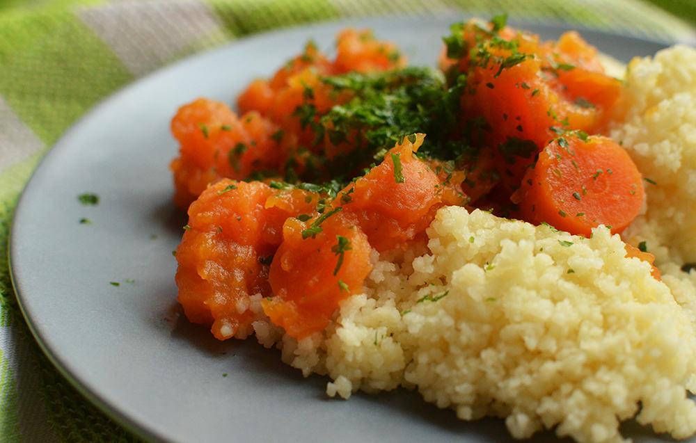 CousCous mit Möhrenragout: Schonkostrezept , auch gut mit Reis