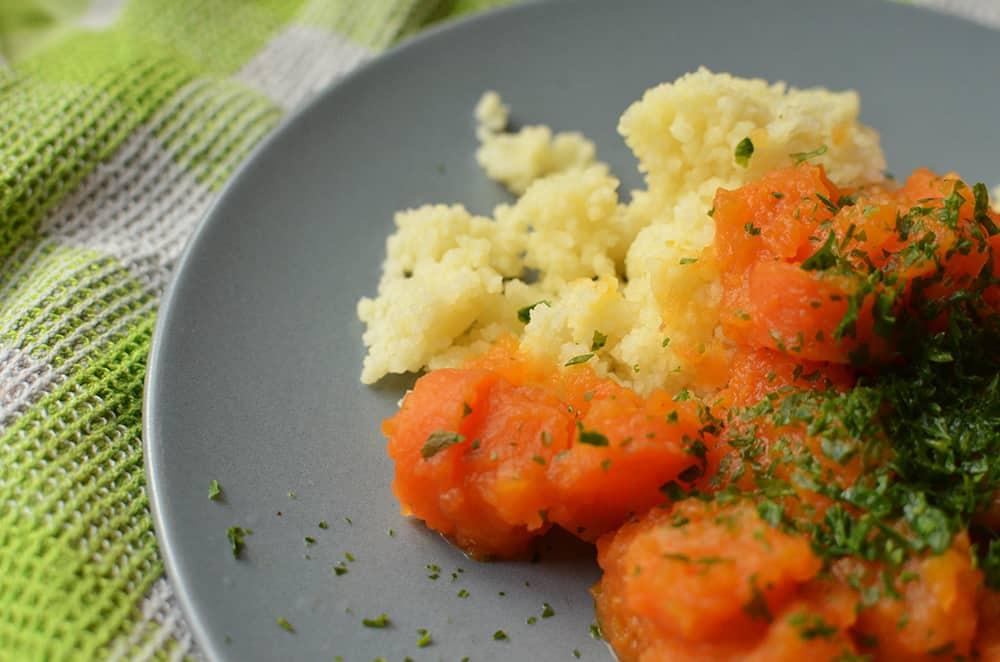 CousCous mit Möhre-Süßkartoffel, magenschonendes rezept bei Gastritis