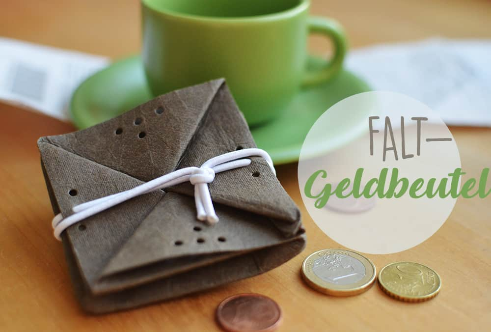 Falt-Geldbörse nähen aus veganem Leder: Vorlage und Nähanleitung