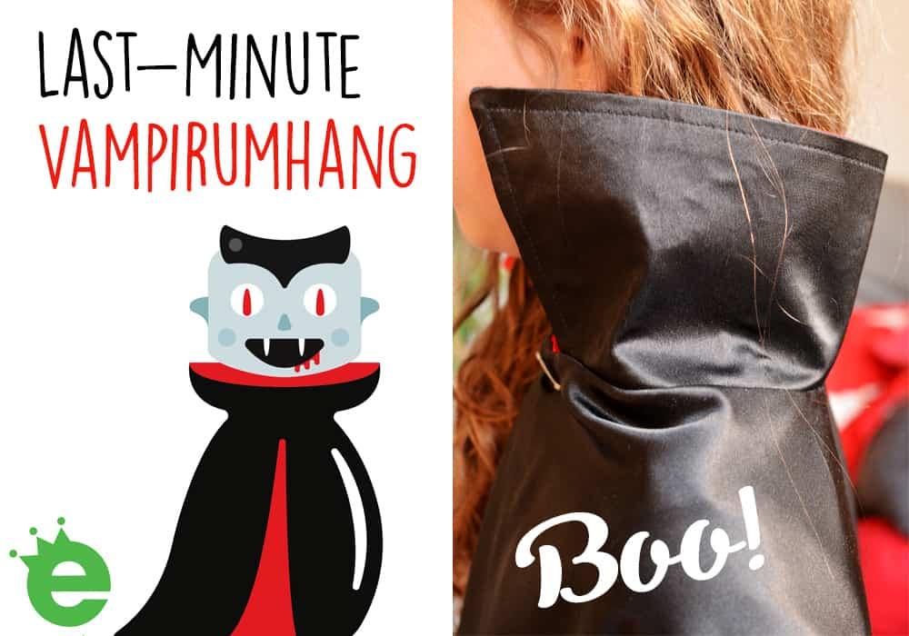 Last Minute Kostüm: Vampirumhang - Vampir-Cape für Kinder nähen