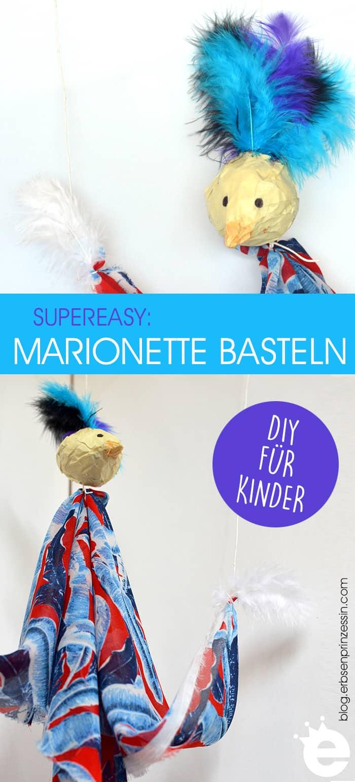 Easy DIY-Idee für Kids: Marionette basteln. Auch super als Bastelaktion beim Kindergeburtstag