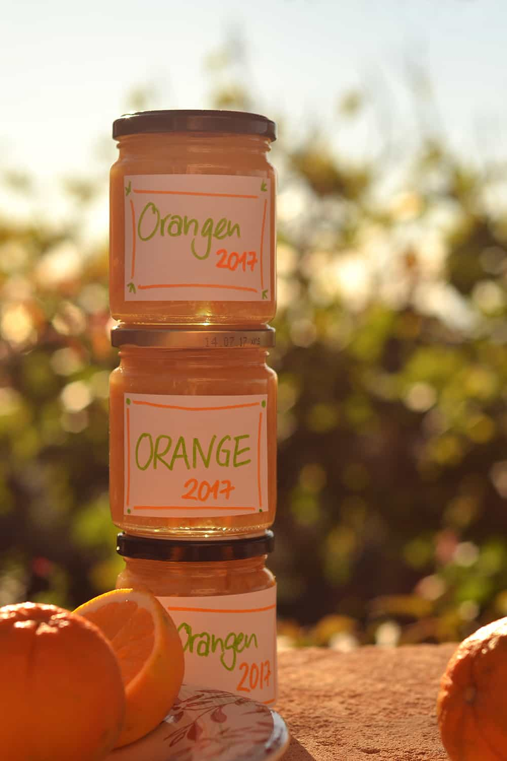 selbstgemachte leicht bittere Orangenmarmelade
