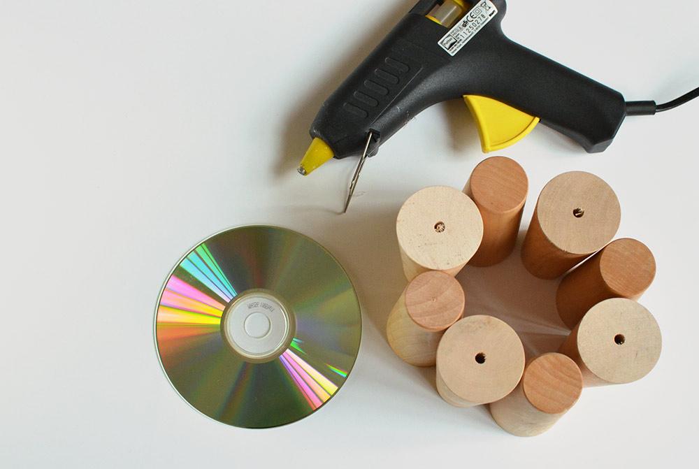 DIY-Adventskranz basteln: Upcycling-Idee