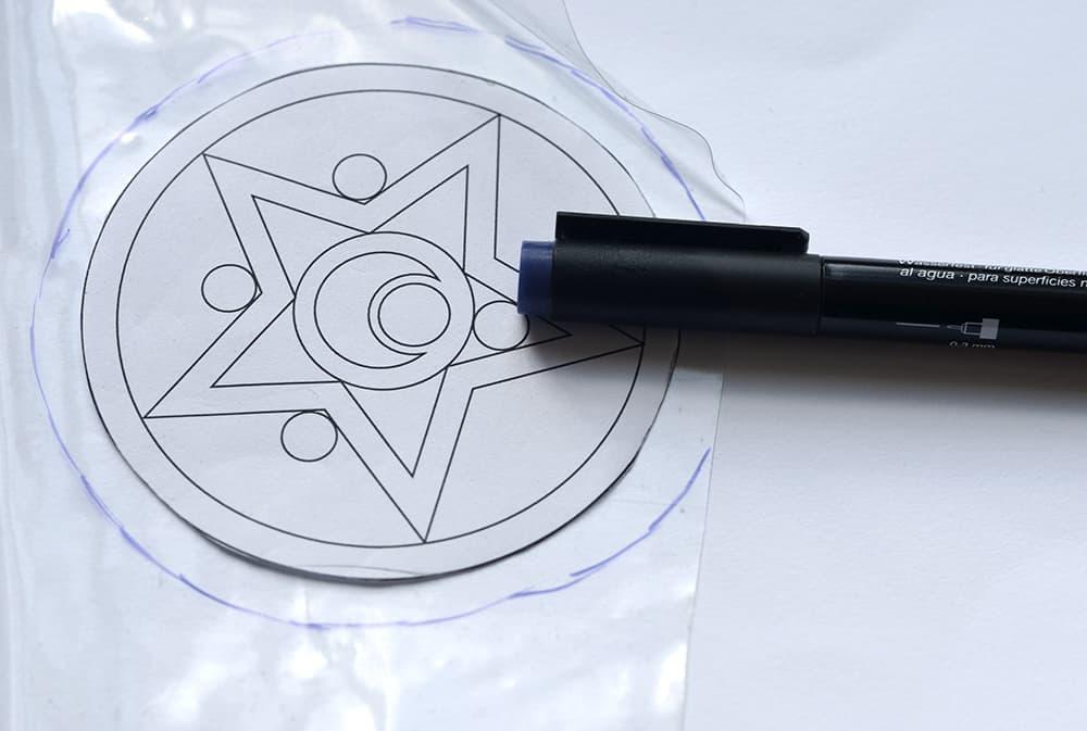 selfmade Schulranzen-Klettie: Folie ausschneiden