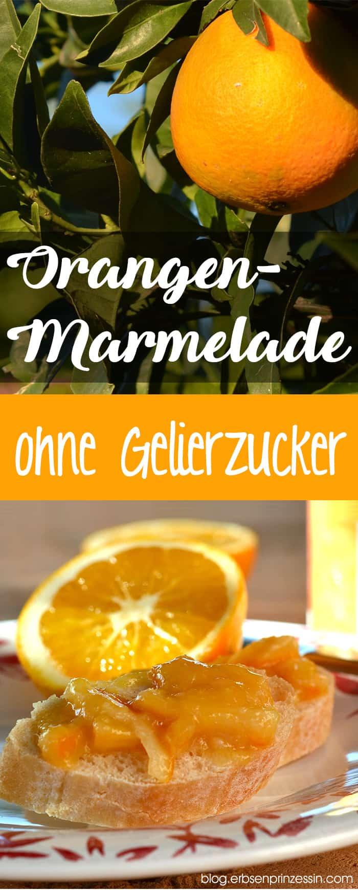 Rezept für mediterrane Orangen-Marmelade ohne Gelierzucker.