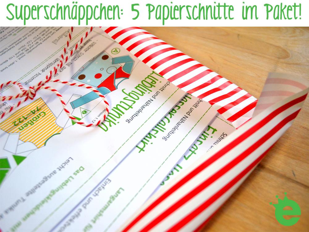 gedruckte Schnittmuster: Weihnachts-Schnäppchen