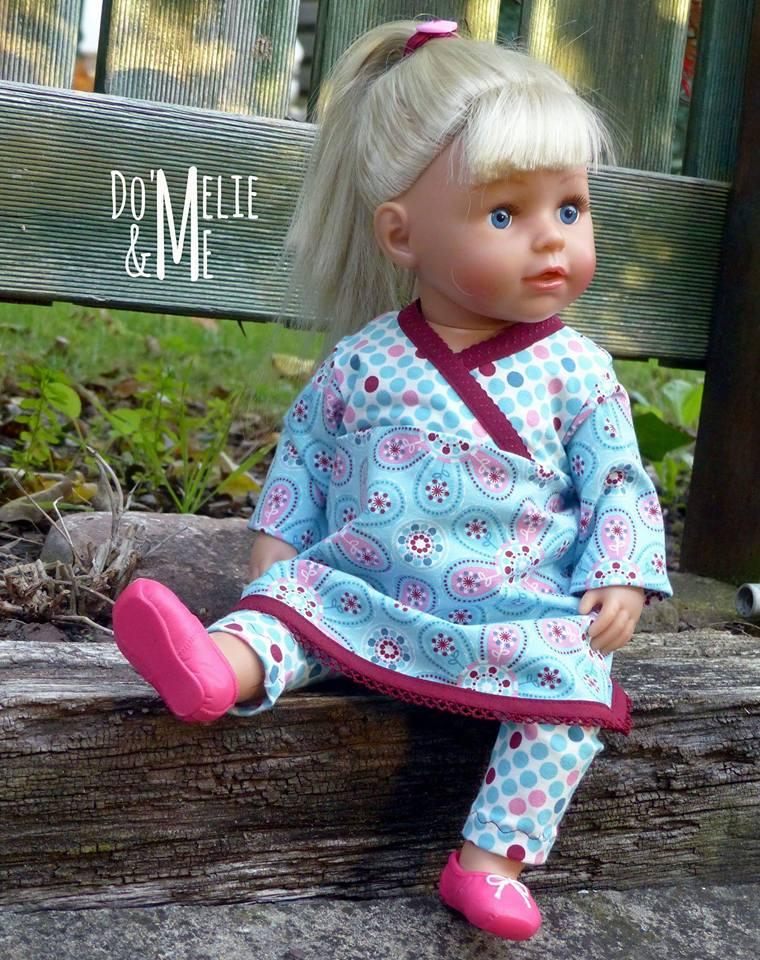 Gratis-Schnittmuster für Puppen: Tunika und Leggings