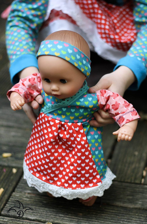 Puppen-Shirt / Tunika: Süßes Schnittmuster zum Selbernähen