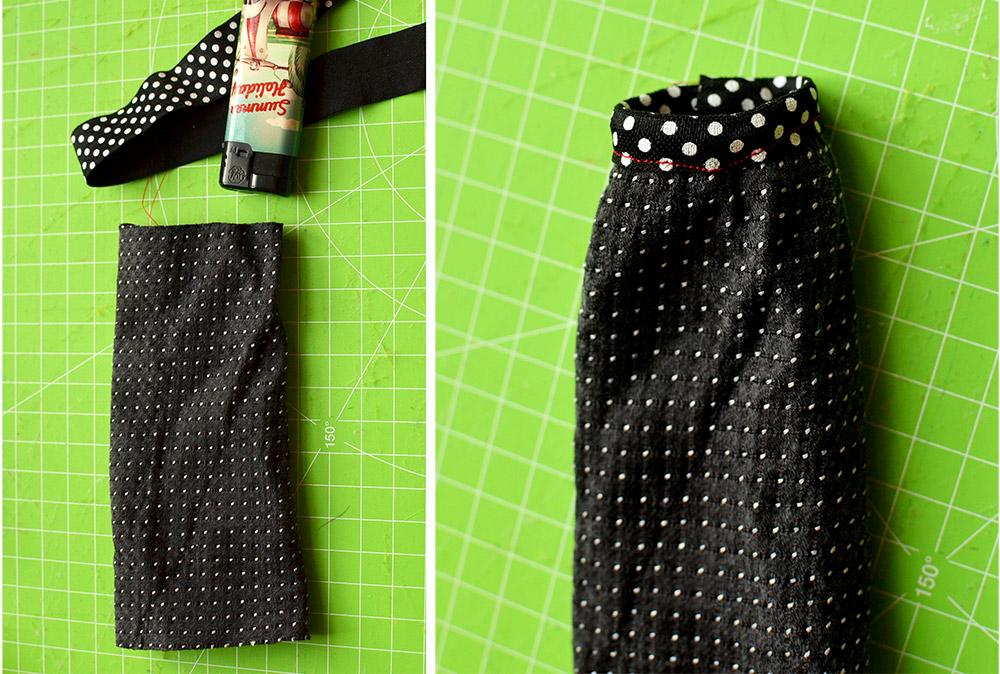 Monster High Kleid nähen aus Krawatte