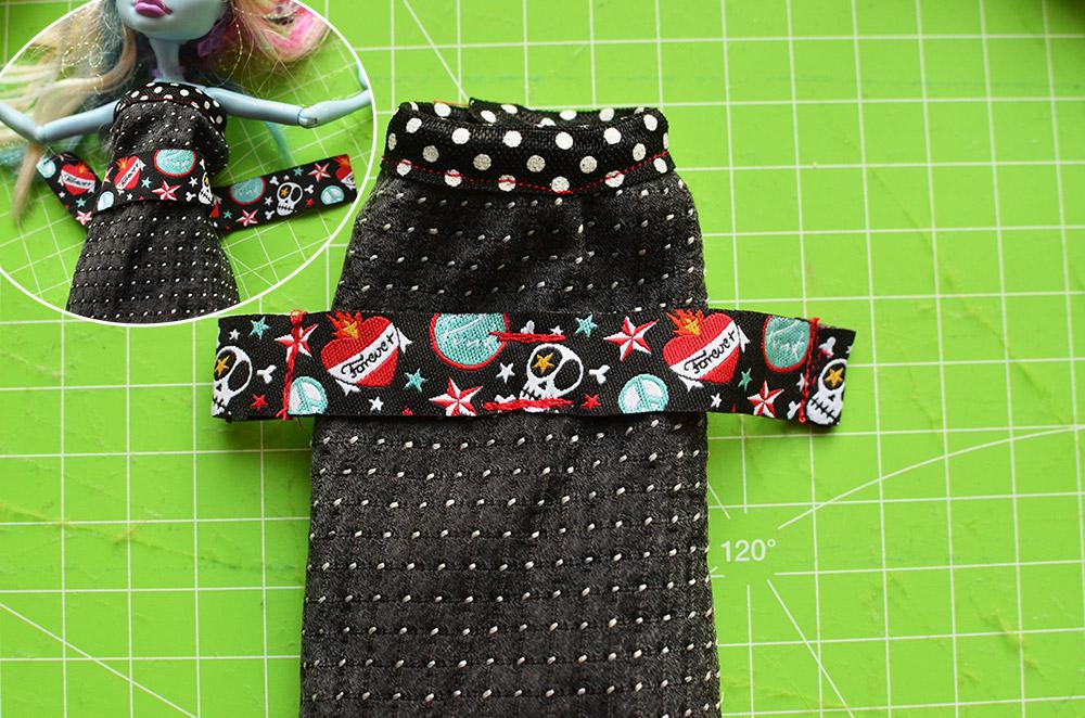 Barbie-Outfit aus Krawatten basteln