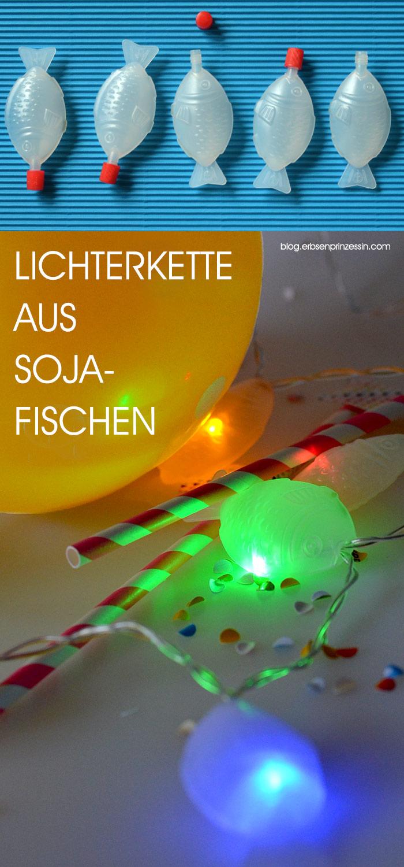 schnelle DIY-Idee: Bastel dir eine Fisch-Lichterkette aus leeren Sojasoße-Fischen