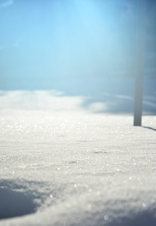 Winterstimmung: Schnee. ideales wetter zum Handarbeiten