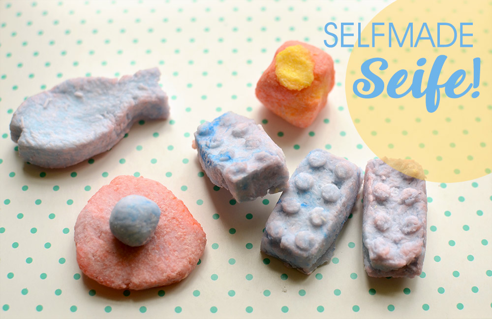 selbstgemachte Seifen: Bastelidee / DIY für Kinder mit Knetseite