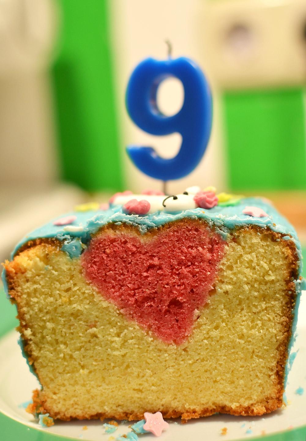Geburtstagskuchen mit Herz
