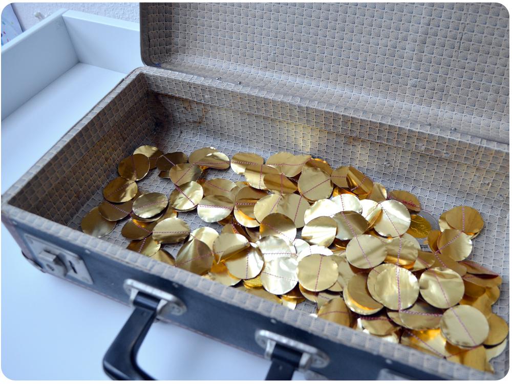 Goldketten basteln für die Schatzsuche beim Kindergeburtstag