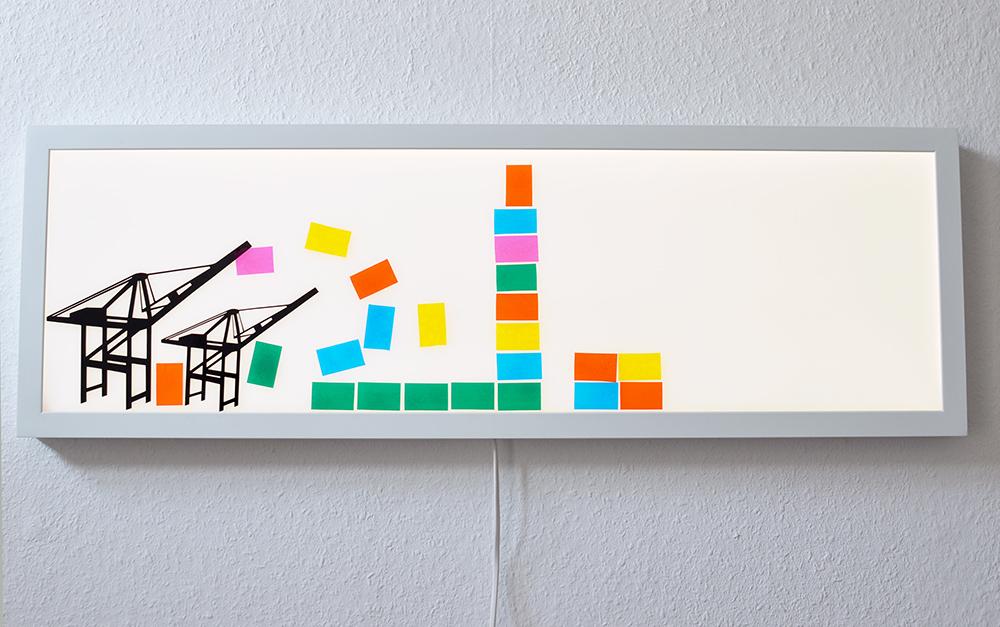 DIY-Idee fürs Kinderzimmer: Lichtpaneel dekorieren mit fensterfolie