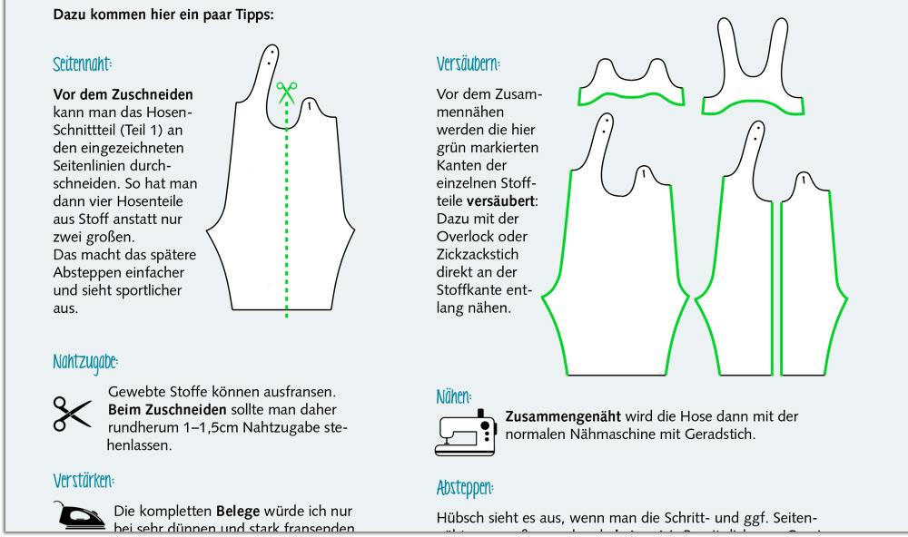 Grafik-Beispiel: Nähen ebook Zeichnungen