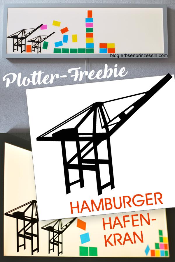 """Vektordatei / Plotterdatei """"Hafenkran Hamburg"""" als Freebie"""