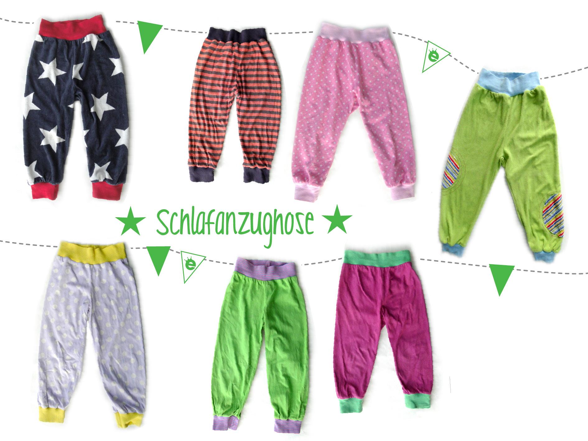 Schlafanzug-Hose für kinder nähen: Schnitt und Anleitunh