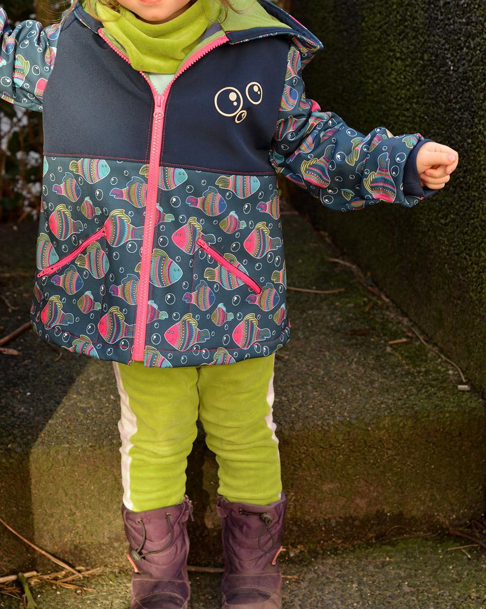 Softshelljacke für Kinder mit Plottermotiv