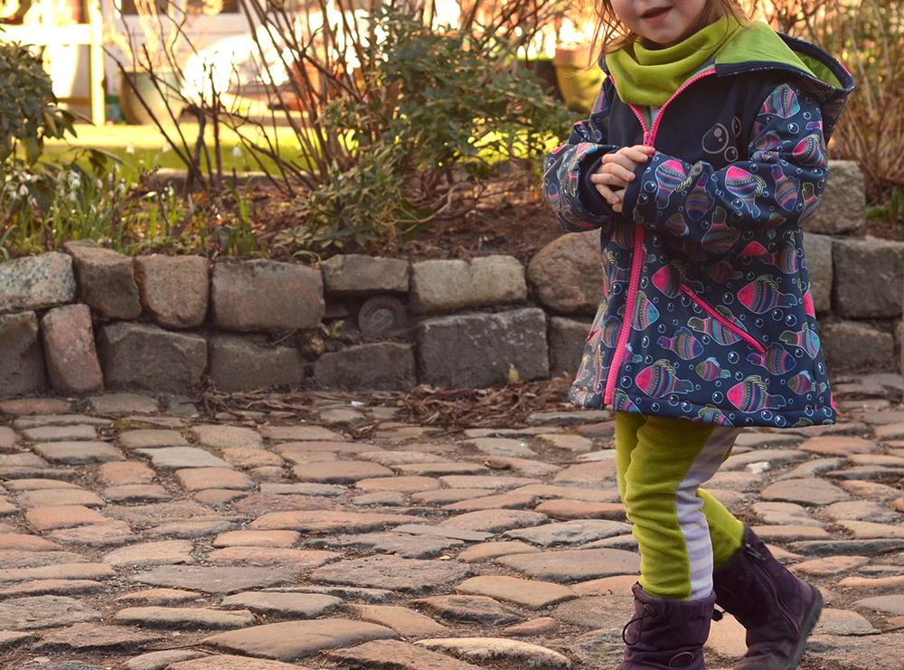 Softshell-Outdoorjacke für Kinder nähen