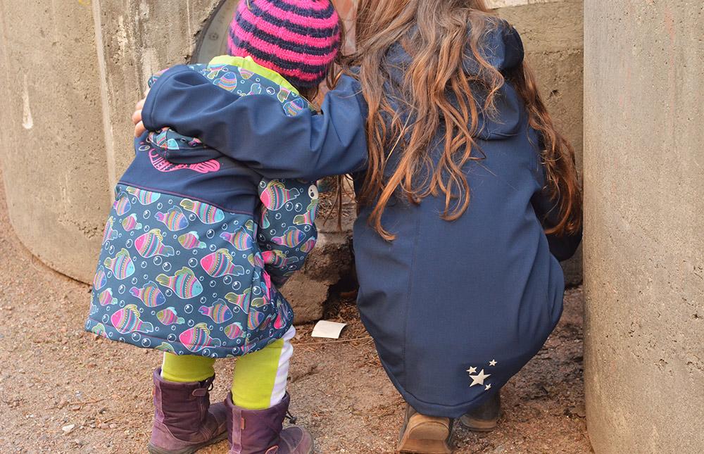Softshelljacken für Kinder nach Schnittmuster aus der Ottobre