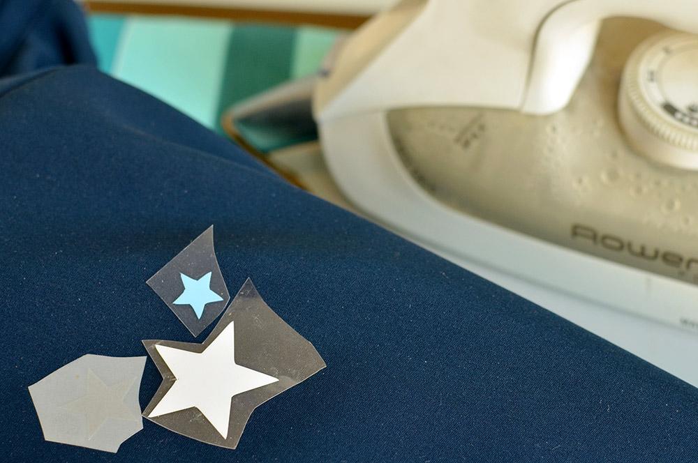Plotter-Motive auf Softshelljacke aufbügeln