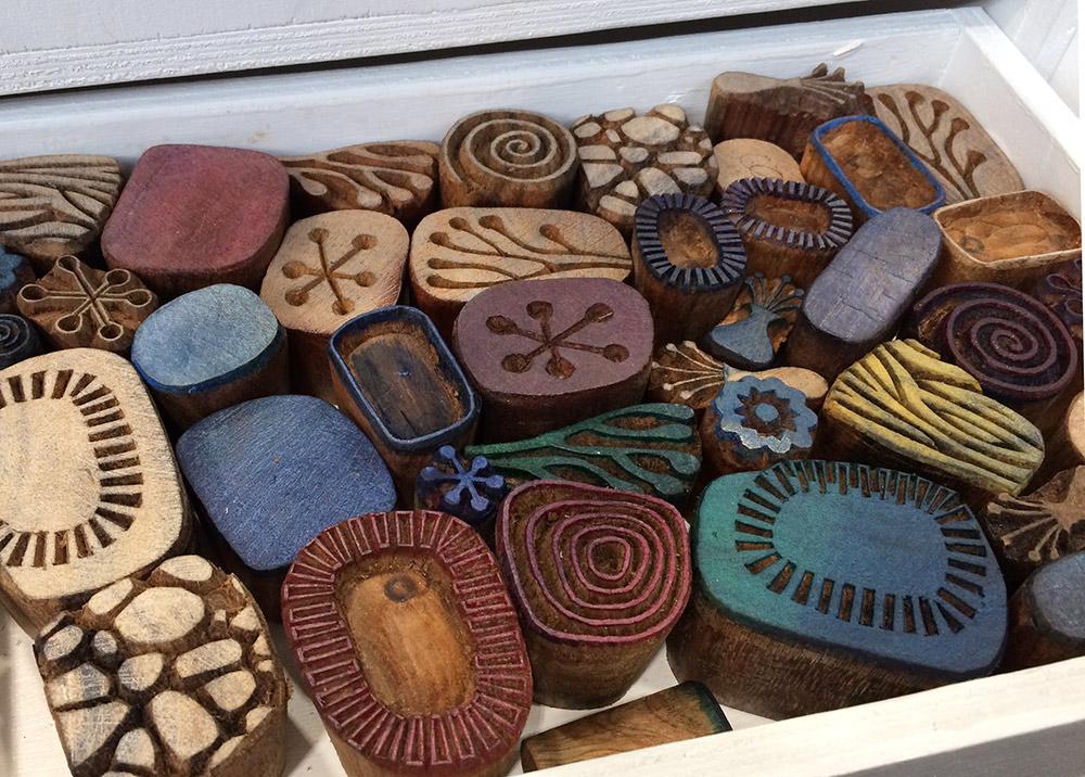stempel aus Holz