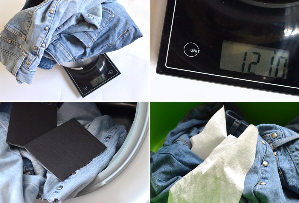 Farbe von jeans erneuern mit Jeansblau-Tüchern von heitmann