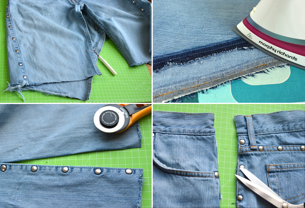 Jeans Upcycling: Hose auftrennen
