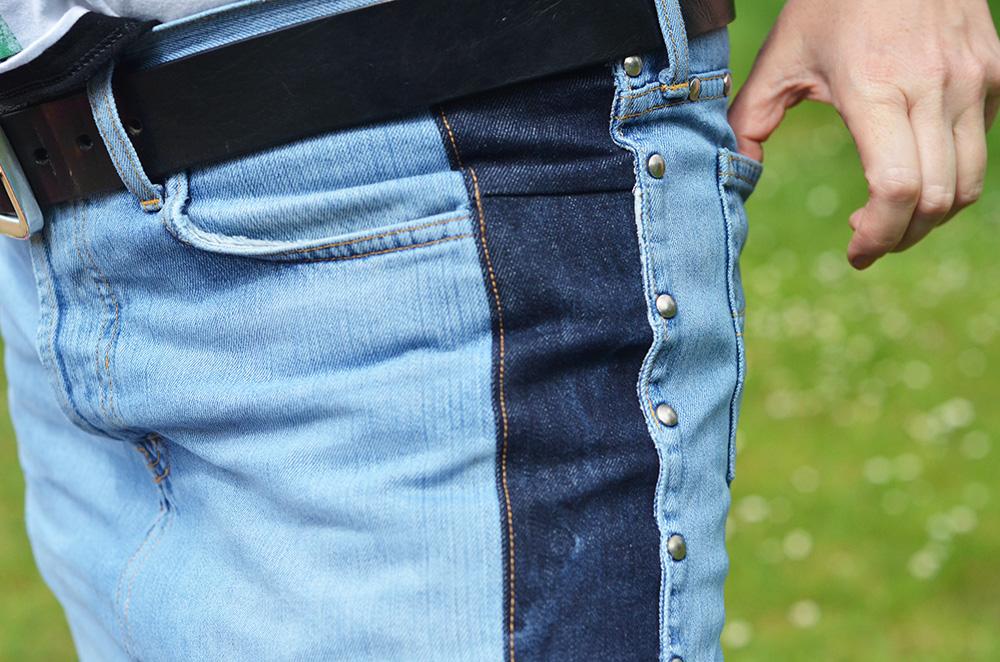 Rock aus alter zu enger Jeans nähen Anleitung