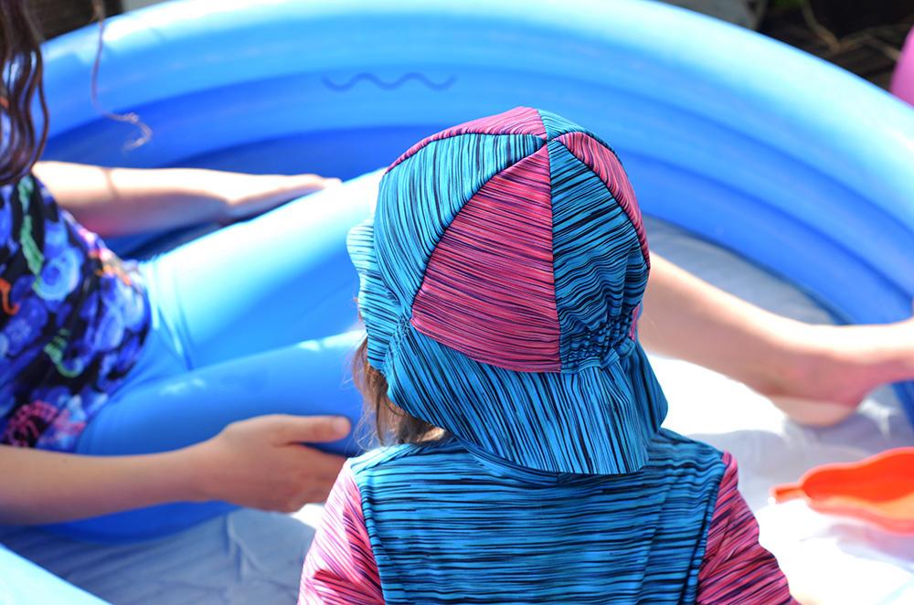 Badehut für Kinder nähen aus Funktionsjersey