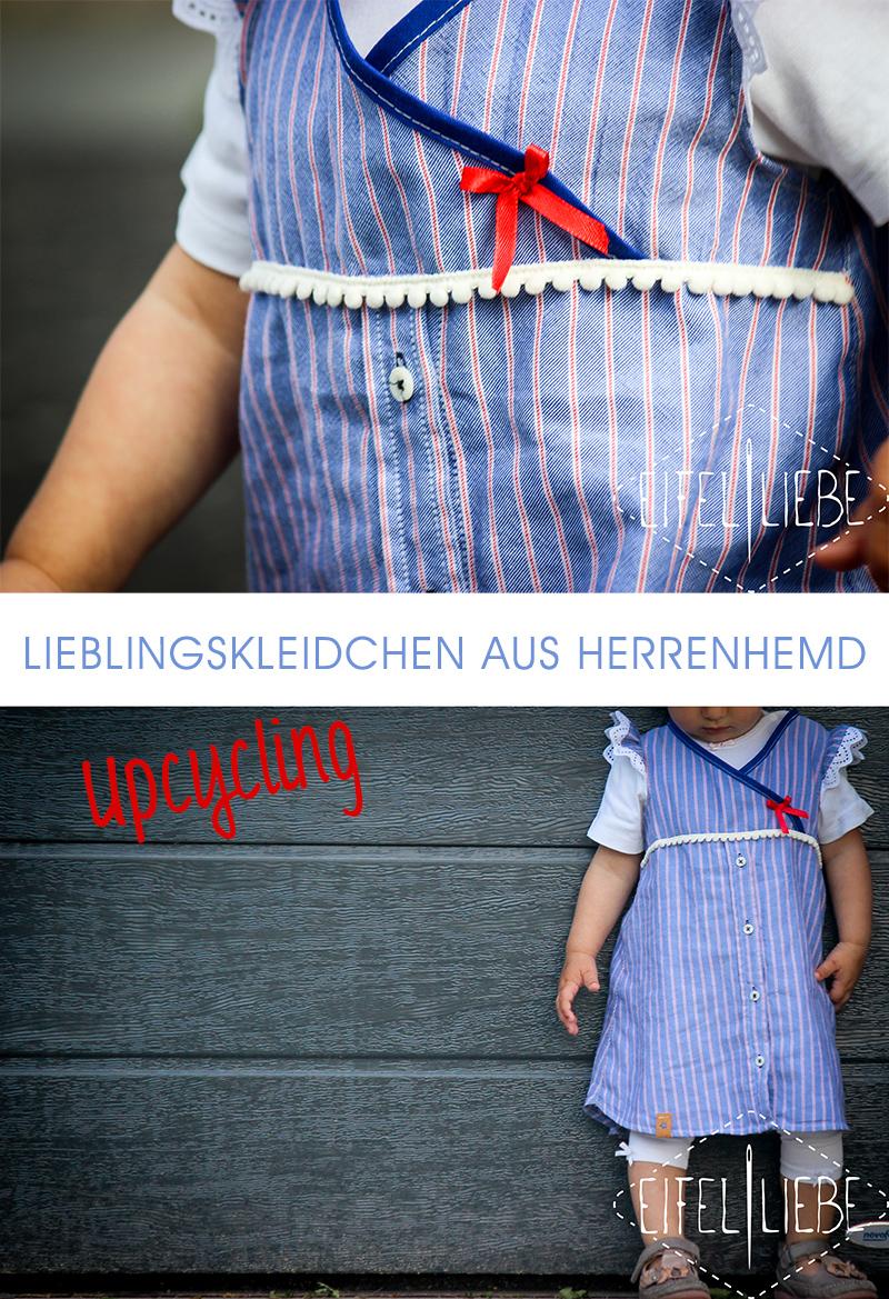 Upcycling Lieblingskleidchen für kleine Mädchen: Genäht aus Herrenhemd / Bluse von Eifelliebe