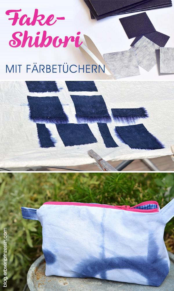 Fake-Shibori mit Färbetüchern: Stoff im Batik-Look bedrucken, Anleitung