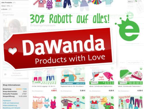 DaWanda schließt: Rabatt auf e-Books bei der Erbsenprinzessin
