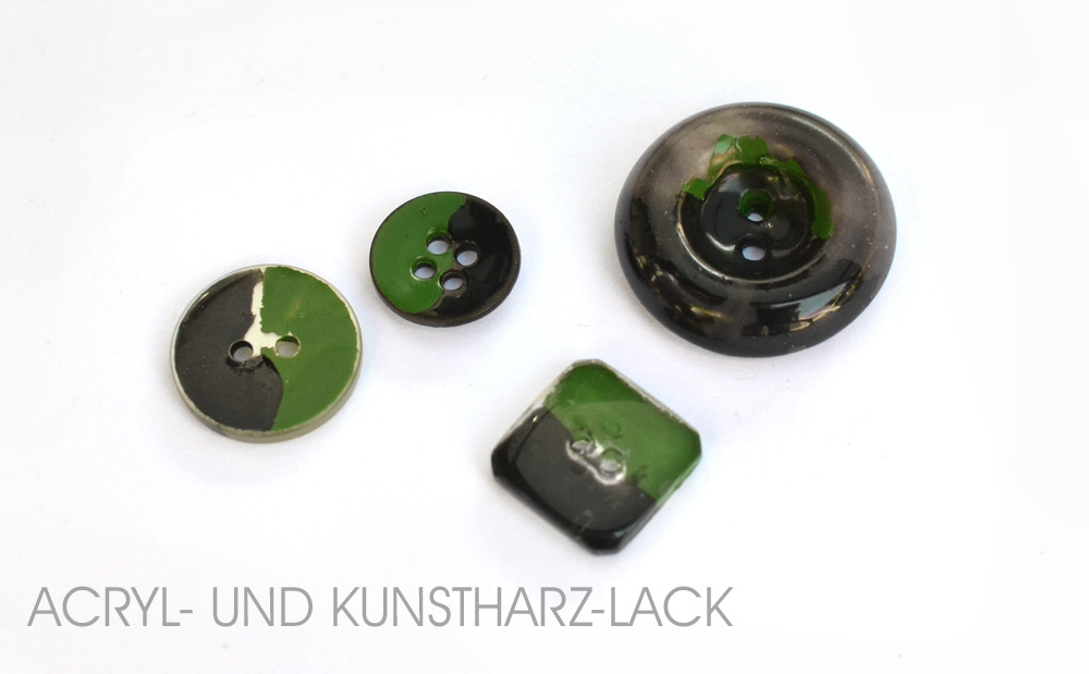 Acryl Lack Kunstharzlack auf Knopf: Hält die Farbe?