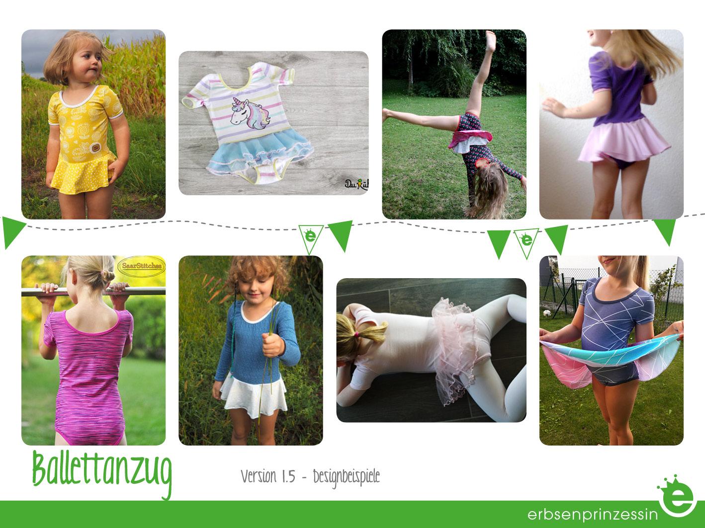 Kinder- TanzanzugSchnittmuster & Nähanleitung Designbeispiele