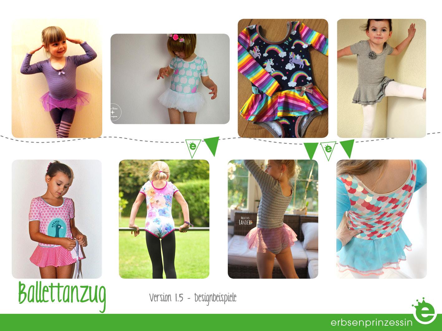 Designbeispiele: Ballettanzug für Mädchen nähen, Designbeispiele