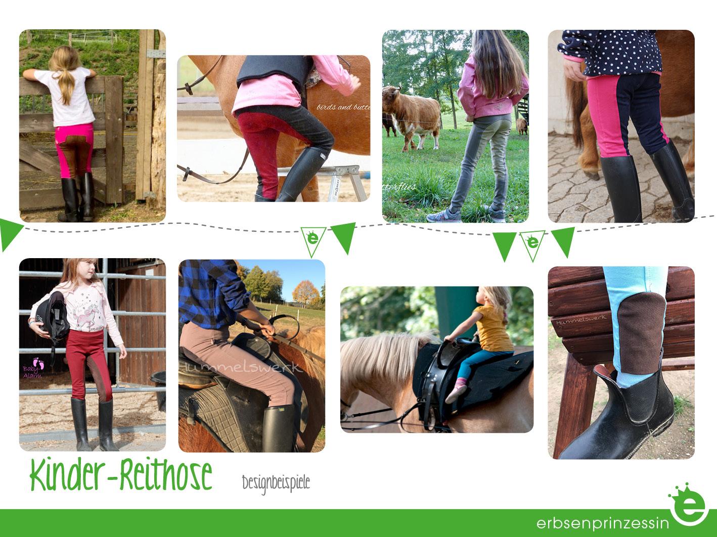 Reiterhose mit Besatz für Mädchen selbernähen: Design-Beispiele