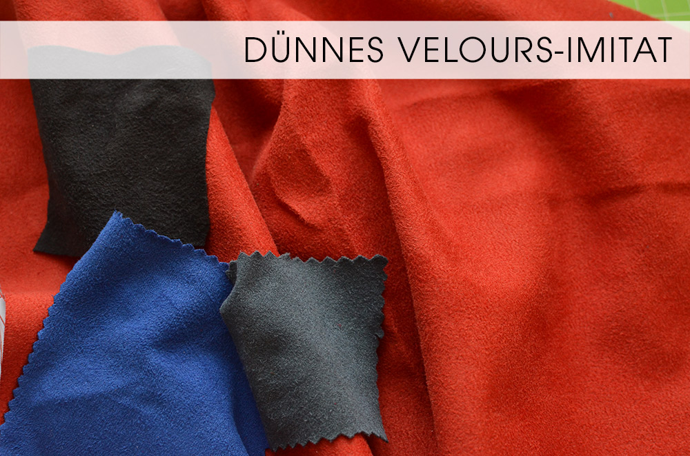 Stoffe für reithose: Dünne Velours-Imitate / Kunstleder