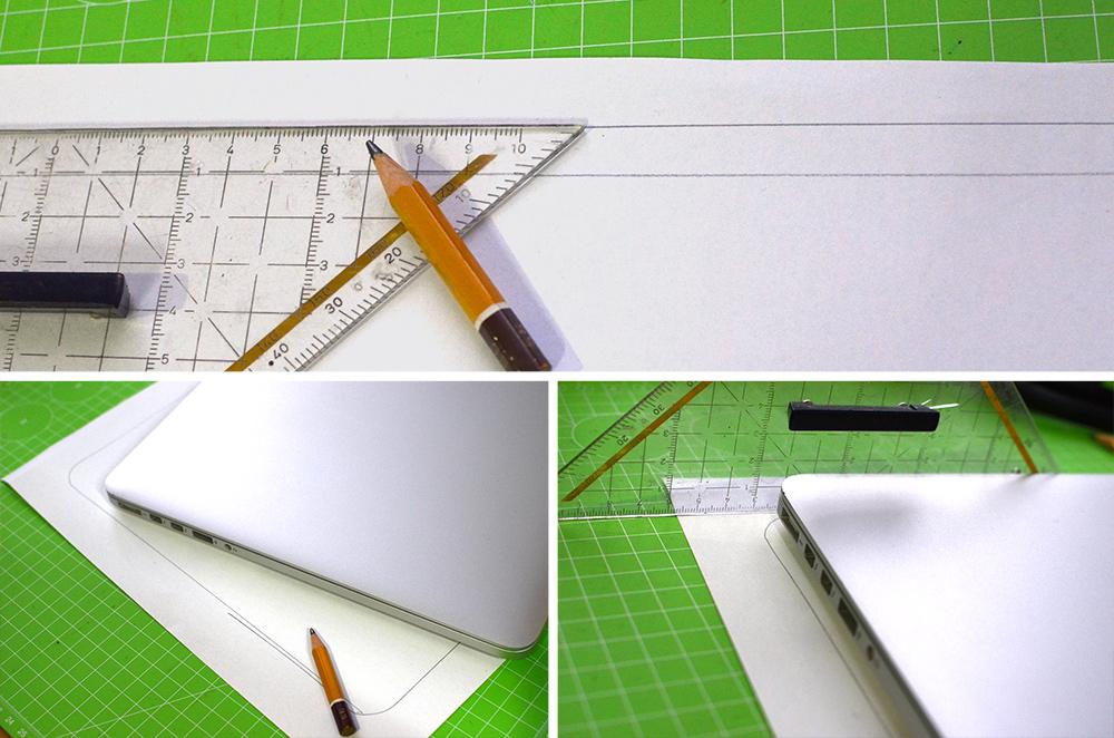 Laptop-Tasche: Schnittmuster zeichnen
