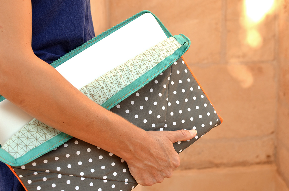 Laptop-Tasche selbermachen Upcycling DIY