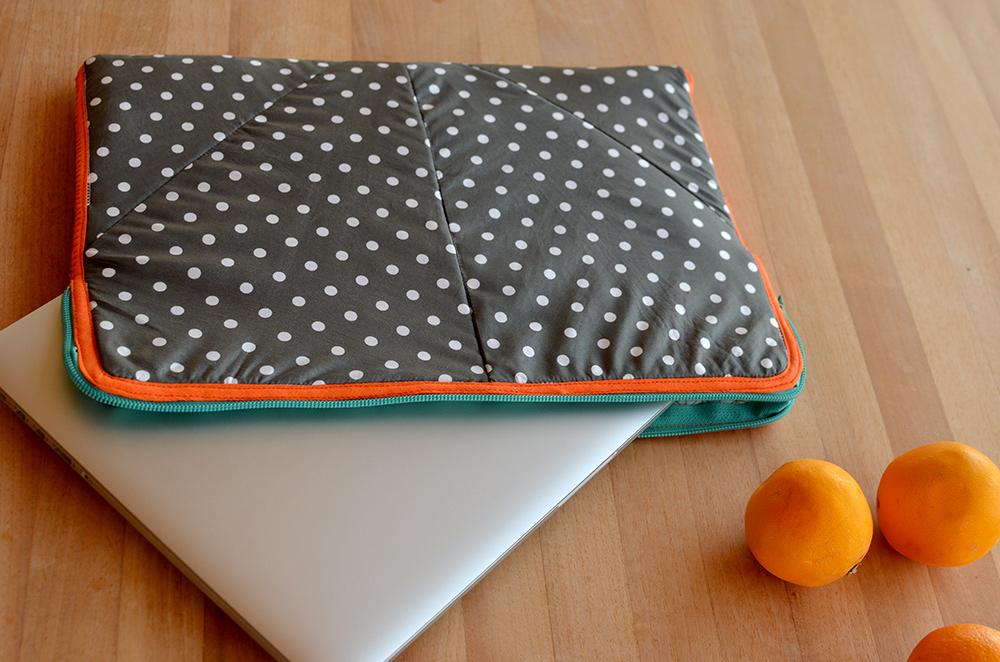 Laptophülle Tasche für Macbook aus regenschirm nähen