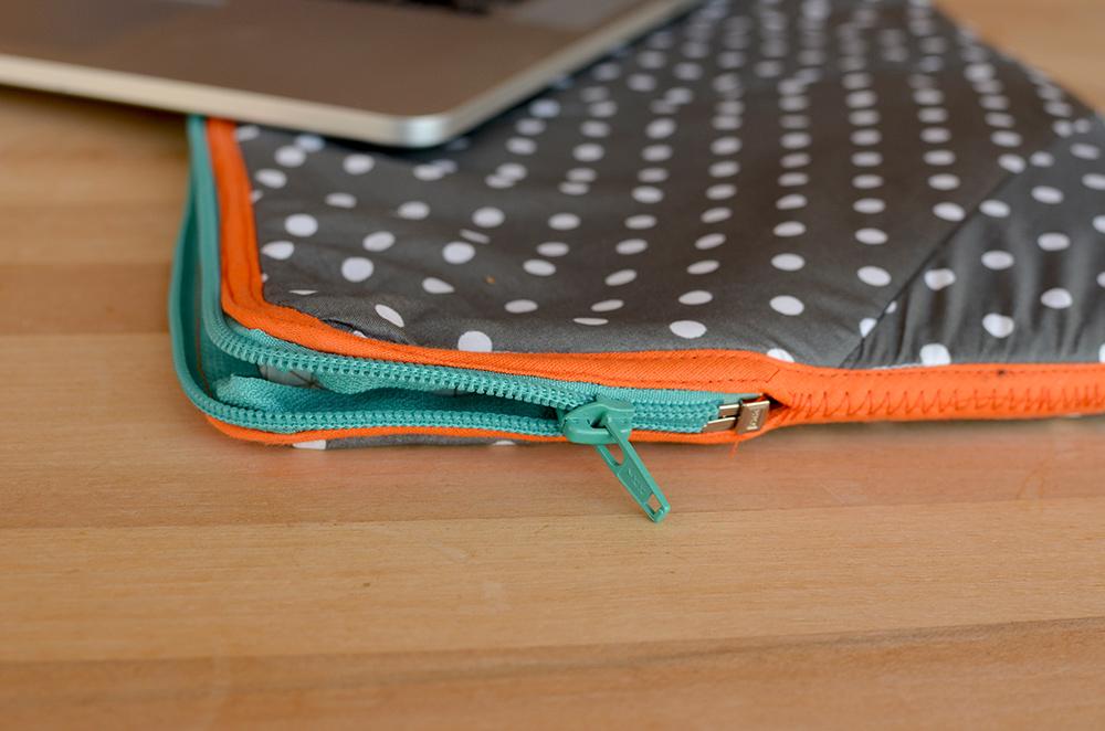 Upcycling-Laptophülle nähen