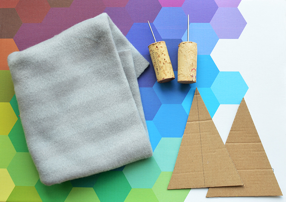 Material und Werkzeug für die Weihnachtskarten