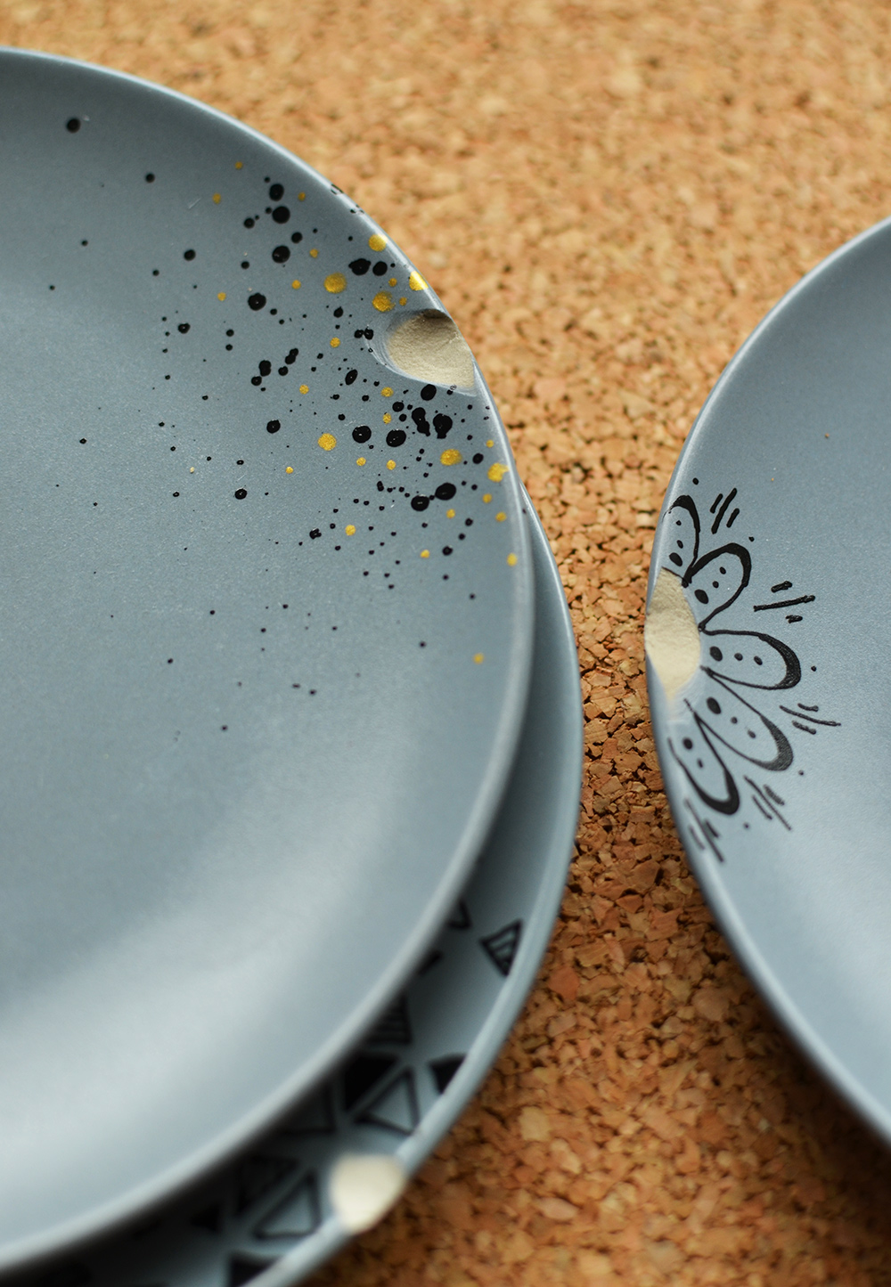 Teller mit Macken aufhübschen, Keramik-Upcycling